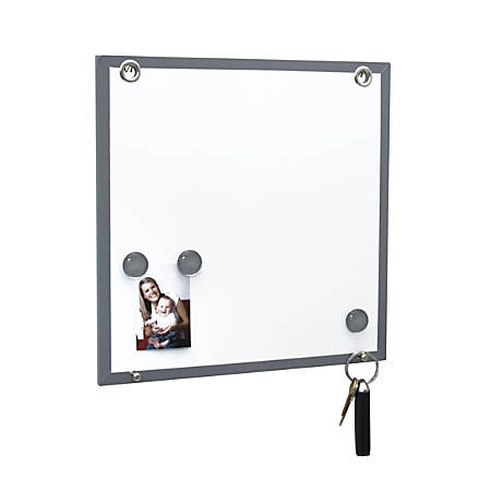 """Fusion Dry-Erase Magnetic Board, 12""""H x 12""""W 15/16""""D, White"""