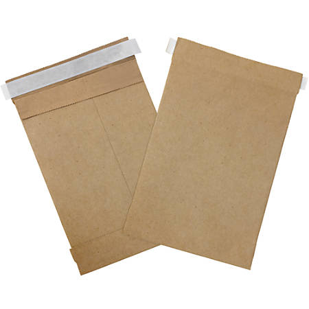 "Office Depot® Brand Kraft Self-Seal Padded Mailers, #0, 6"" x 10"", Pack Of 25"