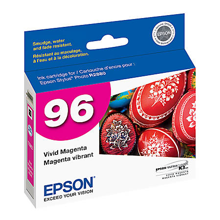 Epson® 96, (T096320) UltraChrome™ K3 Vivid Magenta Ink Cartridge