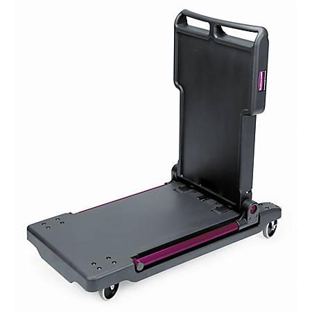 Rubbermaid® Convertible Utility Cart/Platform Truck, Black/Red