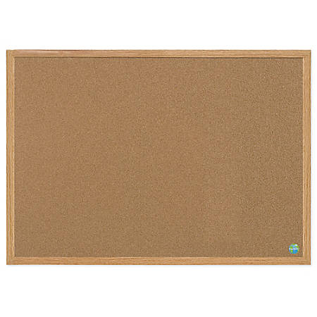 """MasterVision™ Earth Cork Board With Fiberboard Frame, 24"""" x 36"""", 60% Recycled"""