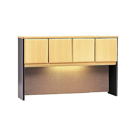 "Bush Business Furniture Office Advantage Hutch 60""W, Beech/Slate, Standard Delivery"
