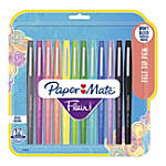 Paper Mate® Flair® Tropical Vacation Felt Tip Pens, Medium Point, 1.0 mm, Assorted Colors, Pack Of 12