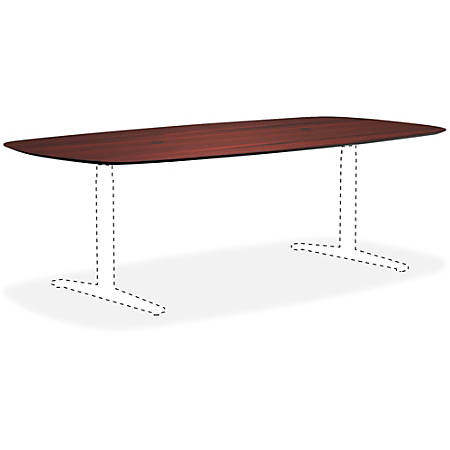 Lorell® Knife Edge Rectangular Conference Table Top, 8'W, Mahogany