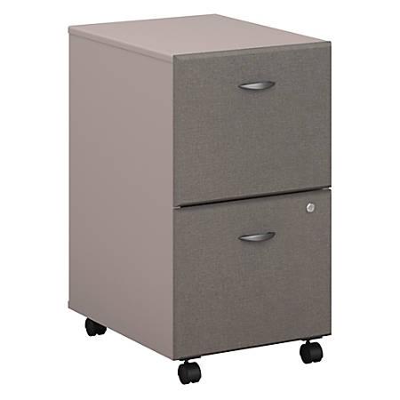 Bush Business Furniture Office Advantage 2 Drawer Mobile File Cabinet, Pewter, Standard Delivery