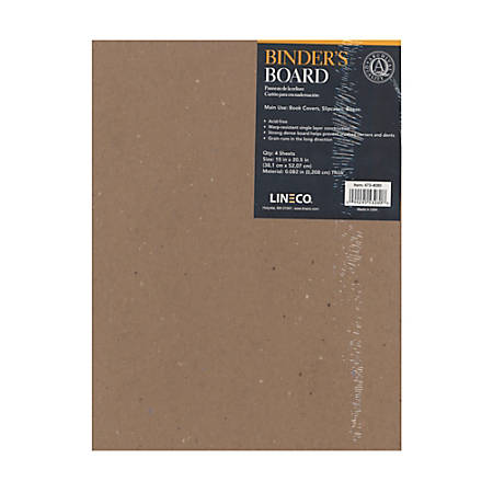 "Lineco Binder's Boards, 15"" x 20 1/2"", Pack Of 4"
