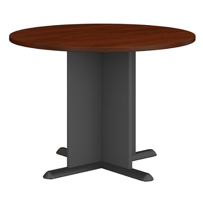 Bush Business Furniture Round Conference Table 42 W Hansen Cherrygraphite Gray Standard Delivery By Office Depot Officemax