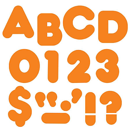"TREND Ready Letters®, Casual, 4"", Orange, Pre-K - Grade 12, Pack Of 71"