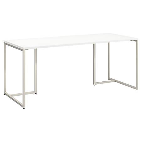 "kathy ireland® Office by Bush Business Furniture Method Table Desk, 72""W, White, Premium Installation"