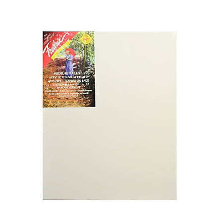 "Fredrix Blue Label Ultra-Smooth Pre-Stretched Artist Canvases, 12"" x 16"" x 11/16"", Pack Of 2"