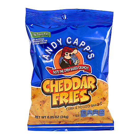 Andy Capp's Snack Fries, Cheddar, 0.85 Oz Bag, Box Of 72