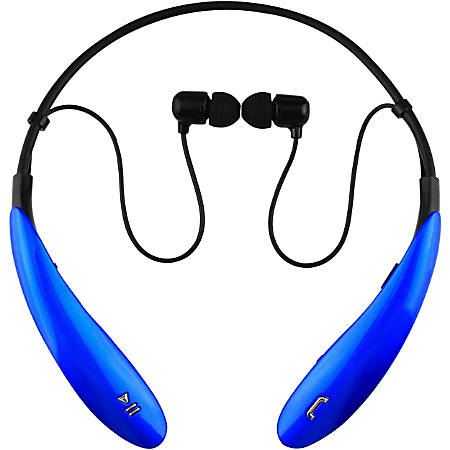 IQ Sound Wireless Bluetooth® Earbud Headphones With Microphone, Blue