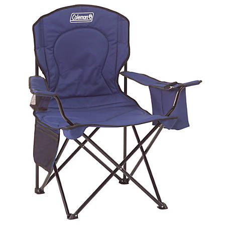 Coleman® Quad Chair with Cooler, Blue