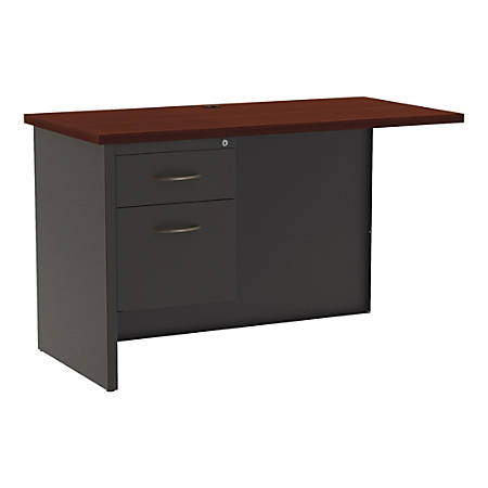 "WorkPro® Modular 48""W Left Return, Charcoal/Mahogany"