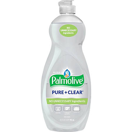 Palmolive Ultra Palmolive Pure/Clear Dish Liquid - Concentrate Liquid - 0.25 gal (32.50 fl oz) - 1 Each - White