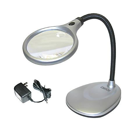 CARSON DeskBrite Magnifier Desk Lamp, 2x