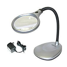 CARSON DeskBrite Magnifier Desk Lamp 2x