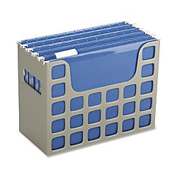 Oxford Techfile Hanging File Bin Letter Size Putty
