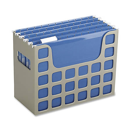 Oxford® Techfile Hanging File Bin, Letter Size, Putty