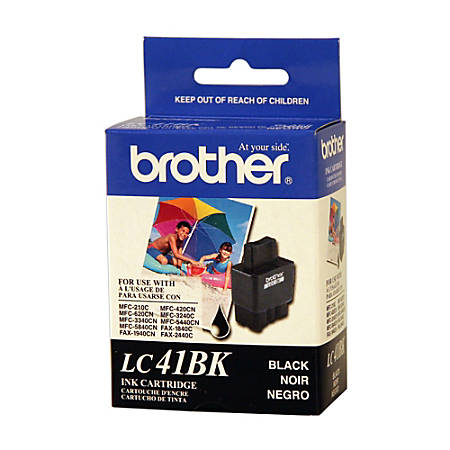 Brother® LC41BK, Black Ink Cartridges, Pack Of 2