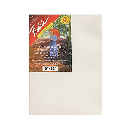 "Fredrix Red Label Stretched Cotton Canvases, 9"" x 12"" x 11/16"", Pack Of 3"