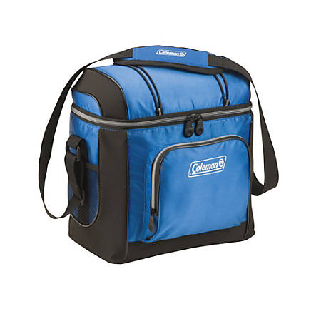 """Coleman® 16-Can Soft Side Insulated Cooler, 12""""H x 12 5/8""""W x 8""""D, Blue"""