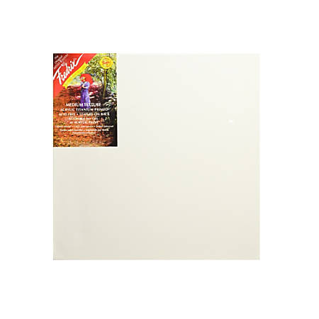 "Fredrix Red Label Stretched Cotton Canvases, 16"" x 16"" x 11/16"", Pack Of 2"
