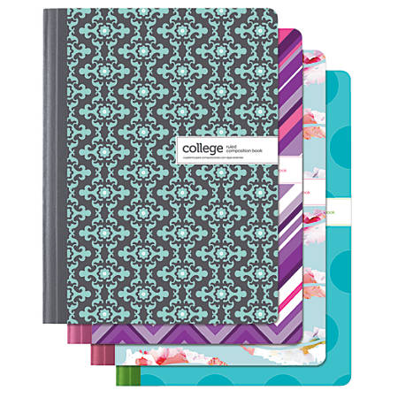 composition notebook office depot brand fashion composition notebook 7 12 x 9 34 1