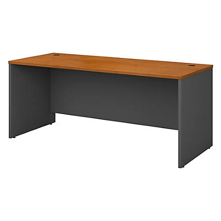 """Bush Business Furniture Components Office Desk 72""""W x 30""""D, Natural Cherry/Graphite Gray, Standard Delivery"""