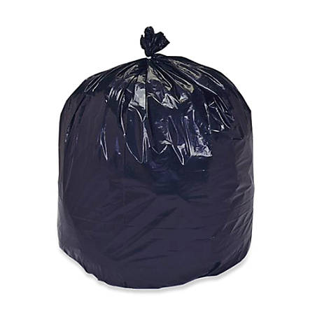 """30% Recycled Trash Can Liners, Heavy Duty, 38"""" x 60"""", 55-60 Gallon, Carton Of 100 (AbilityOne 8105-01-386-2399)"""