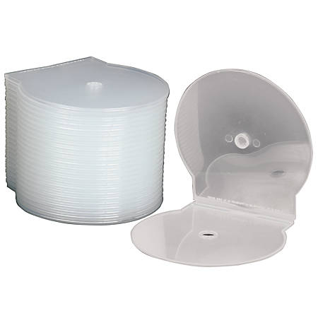 C-Shell CD Storage Cases, Clear, Box Of 25 (AbilityOne 7045-01-554-7681)