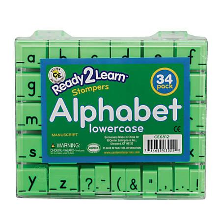 """Center Enterprises Ready2Learn Manuscript Alphabet Stamps Set, Lowercase, 1"""""""