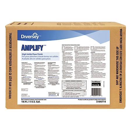 Diversey™ Amplify™ High Solids Floor Finish, Light Scent, 640 Oz Box