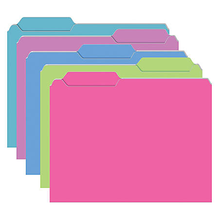 "Top Notch Teacher Products File Folders, 9 1/2"" x 11 3/4"", Galactic Colors, 4 Packs Of 10"