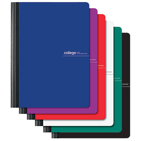 "Office Depot® Brand Composition Book, 7 1/4"" x 9 3/4"", College Ruled, 160 Pages (80 Sheets), Assorted Colors"