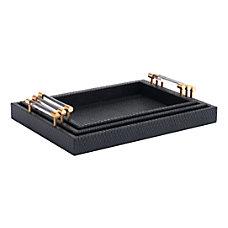 Zuo Modern Gela Trays Black Set