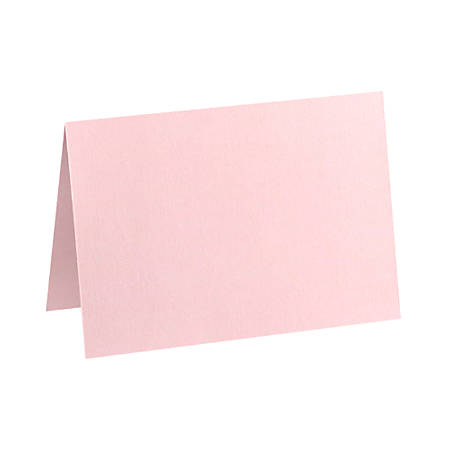"LUX Folded Cards, A9, 5 1/2"" x 8 1/2"", Candy Pink, Pack Of 1,000"