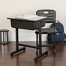 Flash Furniture Adjustable Pedestal Frame Student