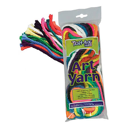 "Trait-Tex® Bright Yarn Pieces, 60"", Assorted Colors, Pack Of 10 Pieces"