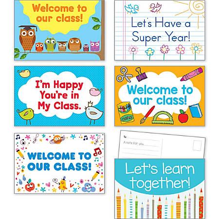 """Scholastic Teacher's Friend Postcards, 6"""" x 4"""", Back To School, Kindergarten - Grade 5, Pack Of 36"""