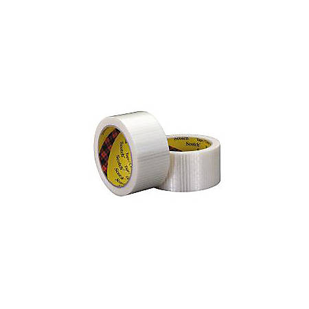 """3M® 8959 Bi-Directional Strapping Tape, 1"""" x 55"""" Yd., Clear, Case Of 6"""