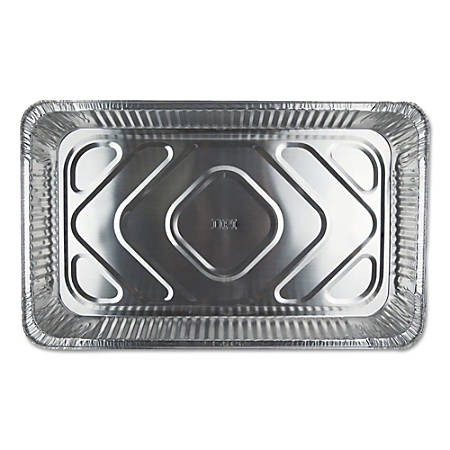 Durable Packaging Aluminum Steam Table Pans, 10.8 Qt, Silver, Pack Of 50 Pans