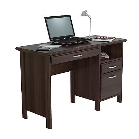 Inval Contemporary Engineered Wood Computer Desk, Espresso-Wengue