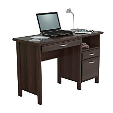 computer desks at office depot glass inval contemporary engineered wood computer desk 40