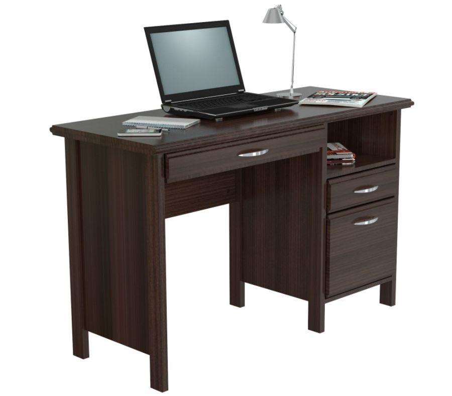 inval contemporary engineered wood computer desk espresso wengue rh officedepot com espresso computer desk with drawers espresso computer desk table