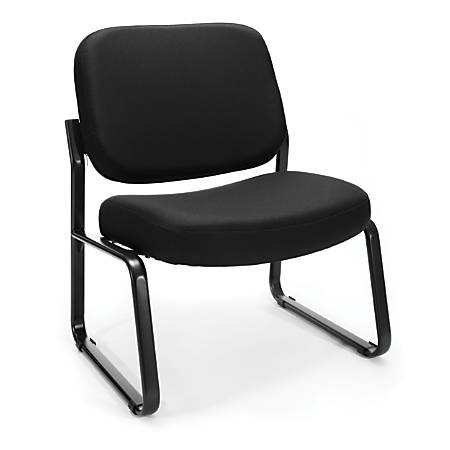 OFM Big And Tall Guest Reception Chair, Black