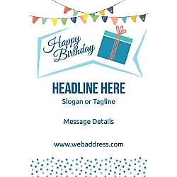 Adhesive Sign Bday Gift Vertical