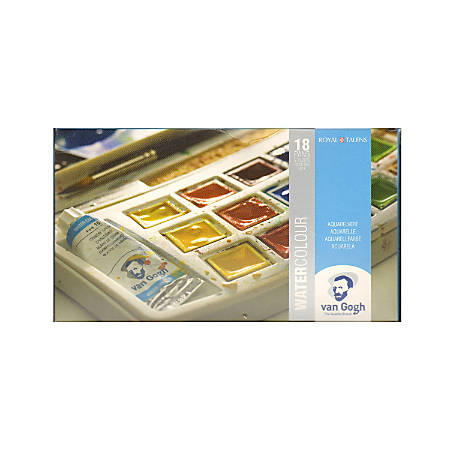 "Van Gogh Watercolor Pocket Box, 5"" x 4"" x 3/4"", Set Of 12"