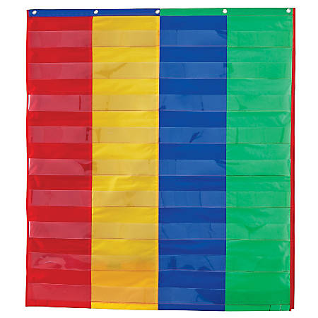 "Learning Resources 2- And 4-Column Double-Sided Pocket Chart, 38"" x 30"", Multicolor, Grade 1 - Grade 3"