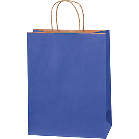 """Partners Brand Tinted Shopping Bags, 13""""H x 10""""W x 5""""D, Parade Blue, 250"""